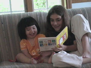 Raimi and Abby reading